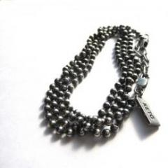 BALL CHAIN RAP BRACELET/ ROUND