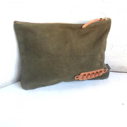 REMAKE CANVAS CLUTCH BAG